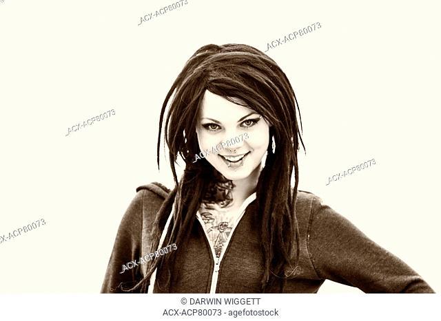 Model Released Caucasian female