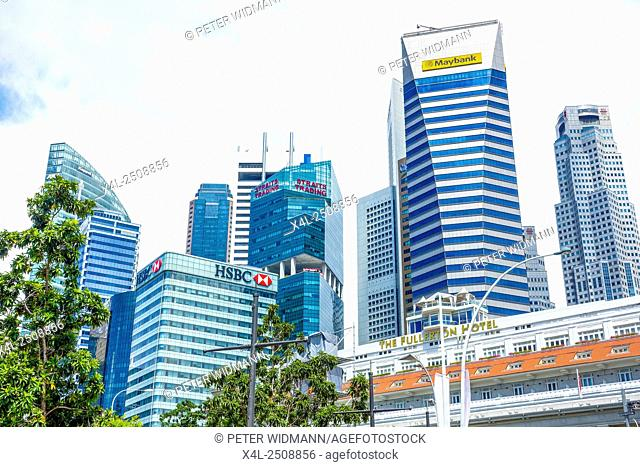 Finance District in Singapore, Southeast Asia