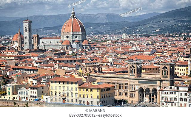 An image of the Duomo in Florence Italy