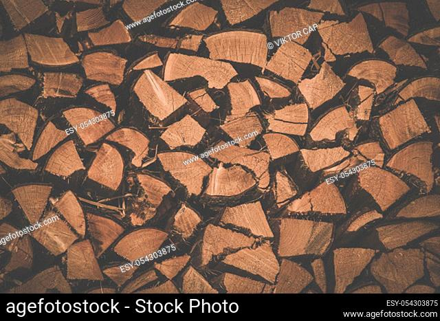 Wooden texture - mountain chalet wall in Swiss Alps