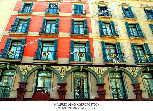 Hotel Oriente, 1882, architect Eduard Fontseré i Mestres, La Rambla, Ciutat Vella, Barcelona, Catalonia, Spain