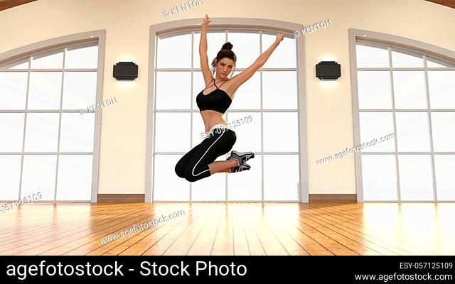 Performing Arts with Woman Dancing in Class