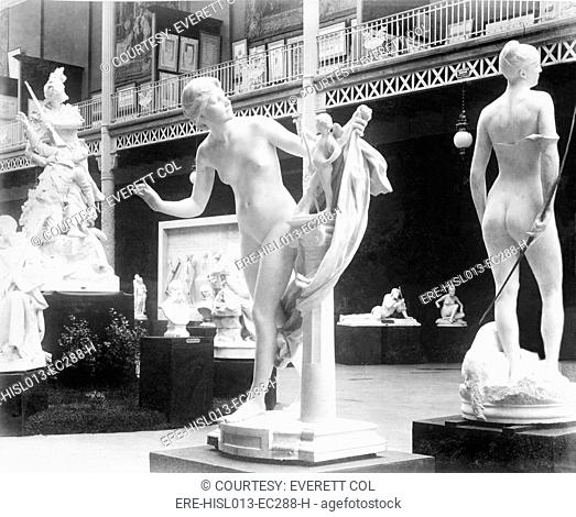 Beaux arts sculpture exhibited in the Gallery Rapp, Palace of Fine Arts, Paris Exposition, 1889