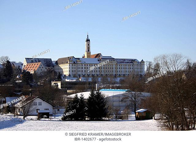 View of the former Benedictine monastery in Ochsenhausen, Landkreis Biberach district, Upper Swabia, Baden-Wuerttemberg, Germany, Europe