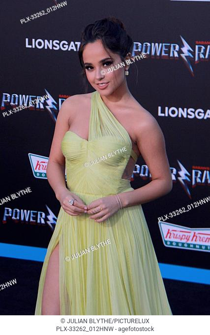 """Becky G. 03/22/2017 """"""""Power Rangers"""""""" Premiere held at the Westwood Village Theater in Westwood, CA Photo by Julian Blythe / HNW / PictureLux"""