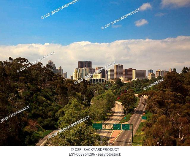 San Diego Skyline from Cabrillo Bridge