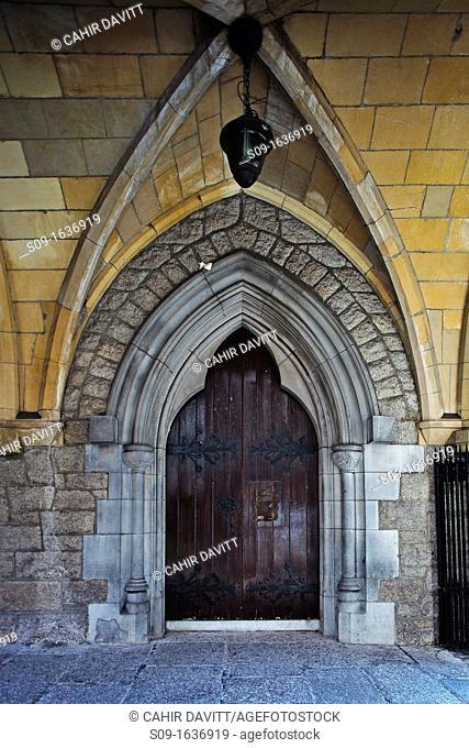 Ireland, Dublin, Suffolk Street  Architectural door detail of the Dublin Tourism Office