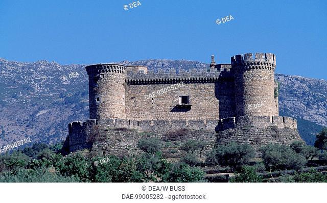 Castle of the Dukes of Albuquerque, Mombeltran, Castile and Leon. Spain, 15th century