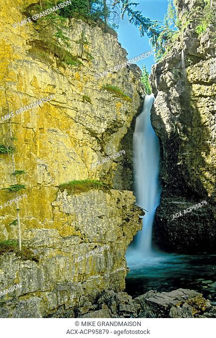 Upper Waterfall in Johnston Canyon Banff National Park Alberta Canada
