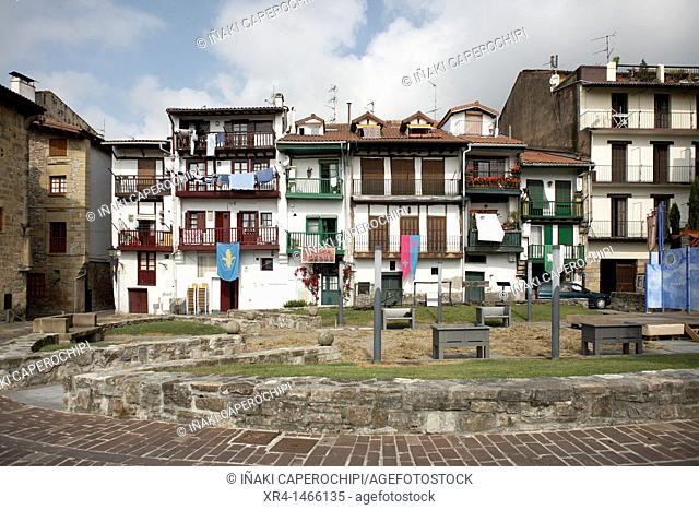 Old Town, Hondarribia, Gipuzkoa, Basque Country, Spain