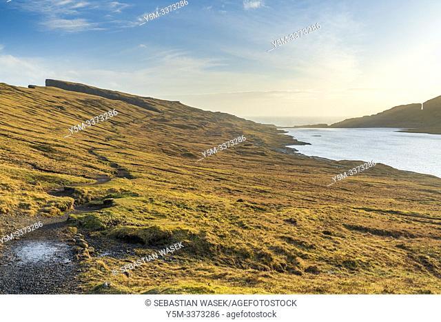 Leitisvatn Or Sorvagsvatn Lake, Vagar, Faroe Islands, Denmark, Europe