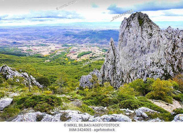 Mount Ioar landscape. Navarre, Spain, Europe
