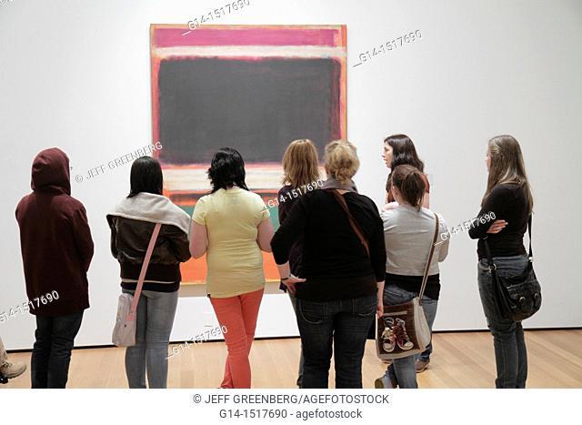 New York, New York City, NYC, Midtown, Manhattan, 53rd Street, The Museum of Modern Art, MoMA, gallery, exhibition, painting, artwork, Mark Rothko