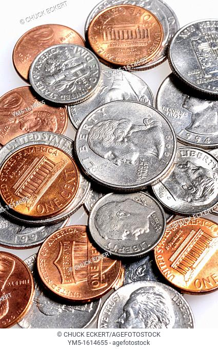 United States Coin Currency including quarters,dimes,nickles, and pennies