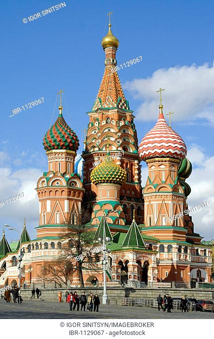 Saint Basil Cathedral, Red Square, Moscow, Russia