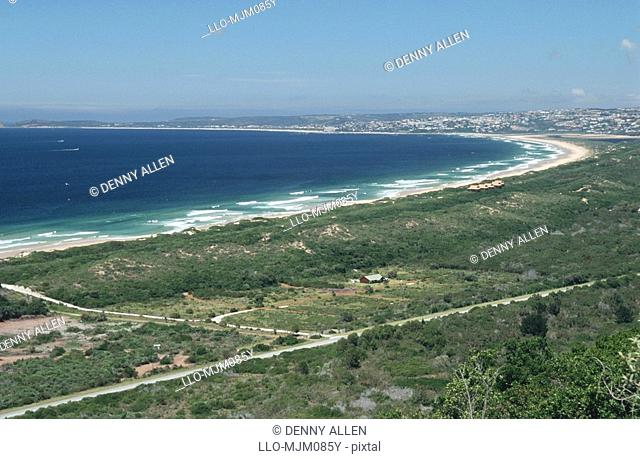 Aerial view of Plettenberg Bay, Garden Route, Western Cape Province, South Africa