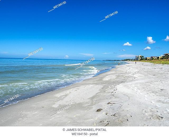 Gulf of Mexico beach on Longboat Key Florida