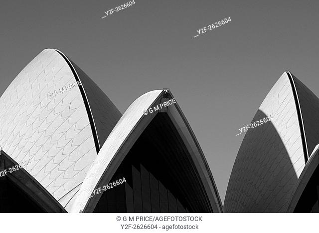 shell shapes of Sydney Opera House roof
