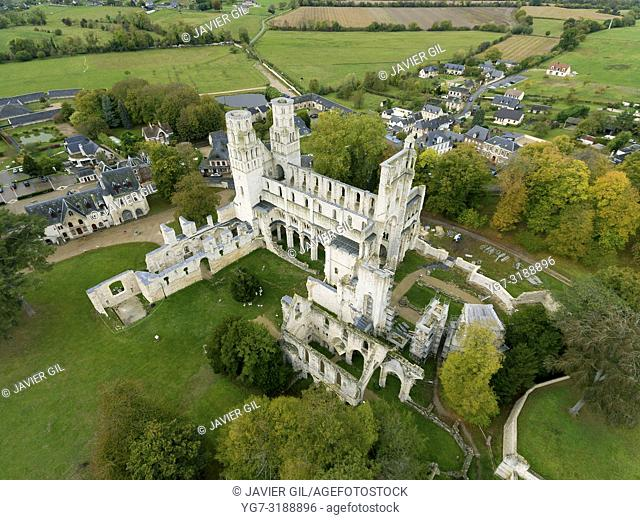 Abbey ruins, Jumieges, Seine-Maritime, Normandy, France