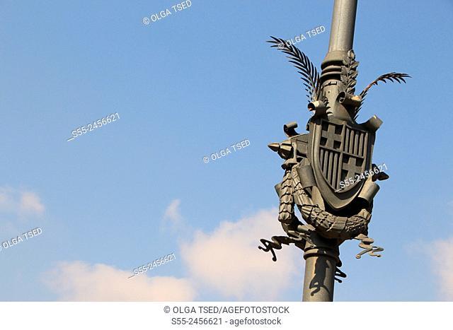Decorative elements next to Arc de Triomf, Paseo de San Juan, Barcelona, Catalonia, Spain
