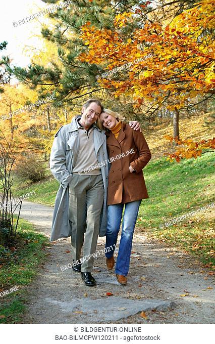 couple at autumn walk