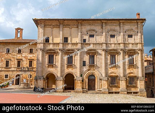 Nobili Tarugi Palace on the Piazza Grande in Montepulciano, Tuscany, Italy