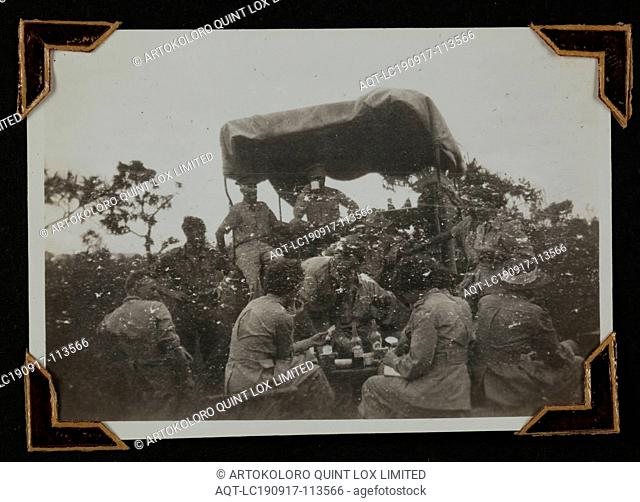 Photograph - Group with a Vehicle, New Guinea, Sister Isabel Erskine Plante, World War II, circa 1942, One of 135 black and white photographs contained in a...
