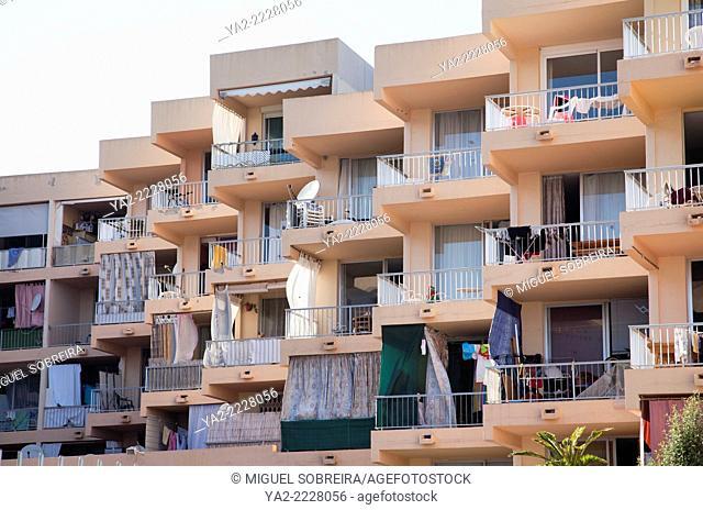 Balconies in Figueretas in Ibiza - Spain