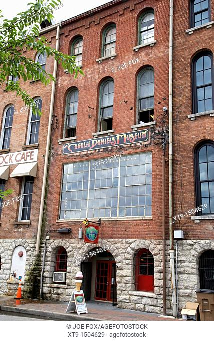 charlie daniels museum in front street warehouse building on first avenue Nashville Tennessee USA