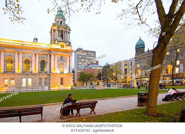 City hall, Donegall square. Belfast. Northern Ireland
