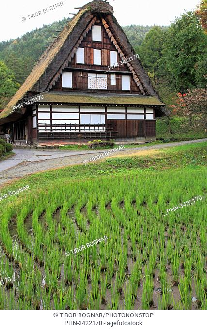 Japan, Hida, Takayama, Hida no Sato, old farmhouse