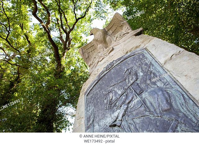 Memorial site to praise defeat of the French during Seven Years War. Statue built by Friedrich des Grossen (Frederick the Great) to praise Herzog Ferdinand von...