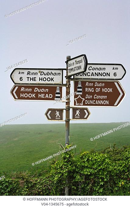 Road signs in Ireland, Europe