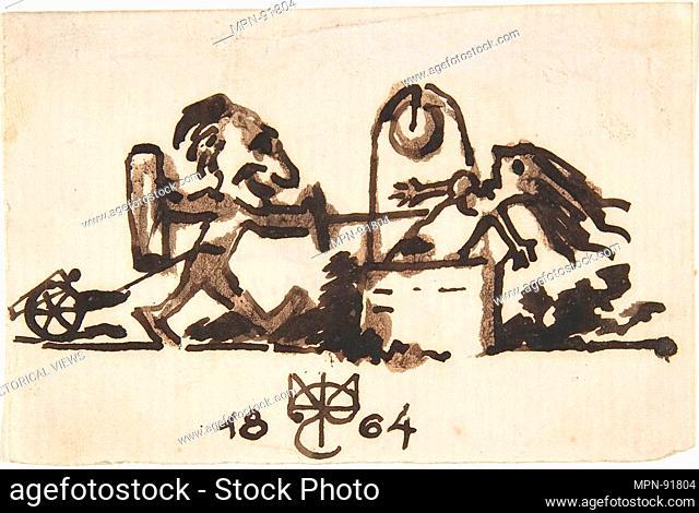 Caricature. Artist: Caran d'Ache [Emmanuel Poiré] (French, Moscow 1858-1909 Paris); Date: 1858-1909; Medium: Pen and brown ink
