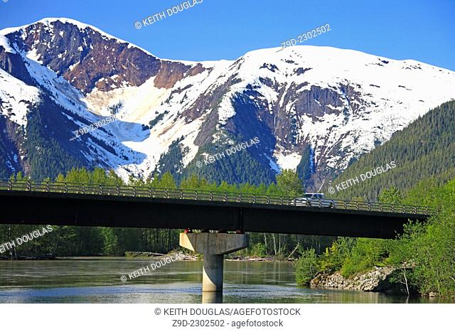 Highway 16 bridge over the Kasiks River between Terrace and Prince Rupert, BC
