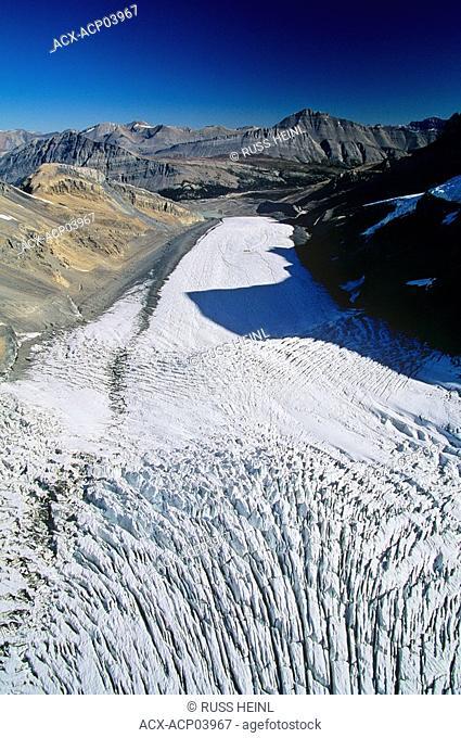 aerial of columbia icefields, jasper National Park, Alberta, Canada