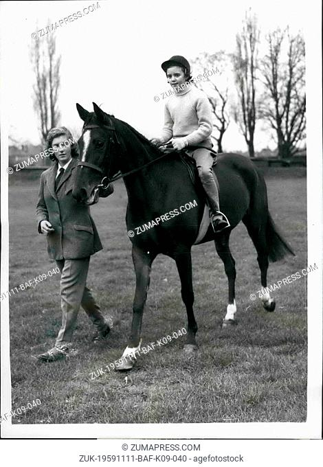 Nov. 11, 1959 - Penny receives the Queen's Pony.: Today was a big day for ten-year-old Penny Stephenson, of St. Leonard's Hill