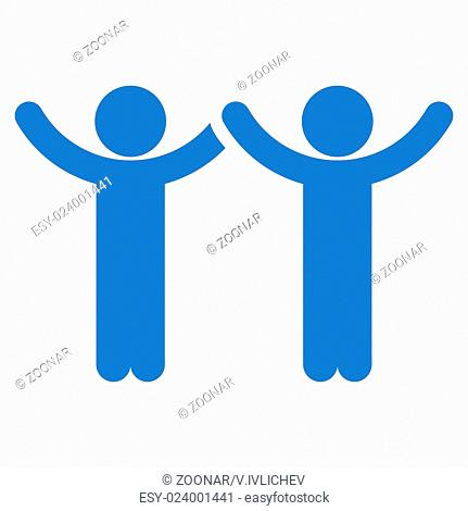 Hands Up Community Icon