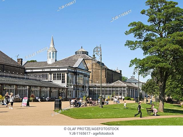 Image of the Pavilion Gardens in Buxton, a historic venue situated in the heart of Buxton