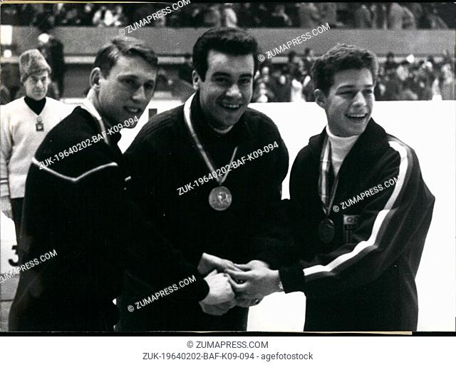 Feb. 02, 1964 - 20 year old Munich architecture student Manfred Schnelldorfer managed to beat European champion Alain Calmat of France to claim the gold medal...