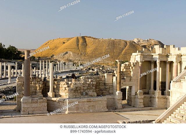Roman Theater Arena Ruins Tel Beit Shean National Park Israel