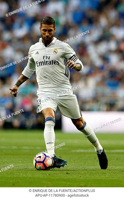 2016 La Liga Football Real Madrid v Celta Vigo Aug 27th. 27.08.2016. Madrid, Spain. Sergio Ramos Garcia (4) Real Madrid. La Liga football match between Real...