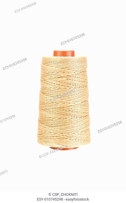 Yarn thread for crafts isolated on white with clipping path