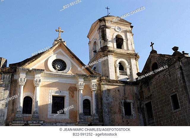 San Agustin church. Historical district  Manila's 16th Century Walled City. The ruins of the Spanish colonial capital of the Philippines