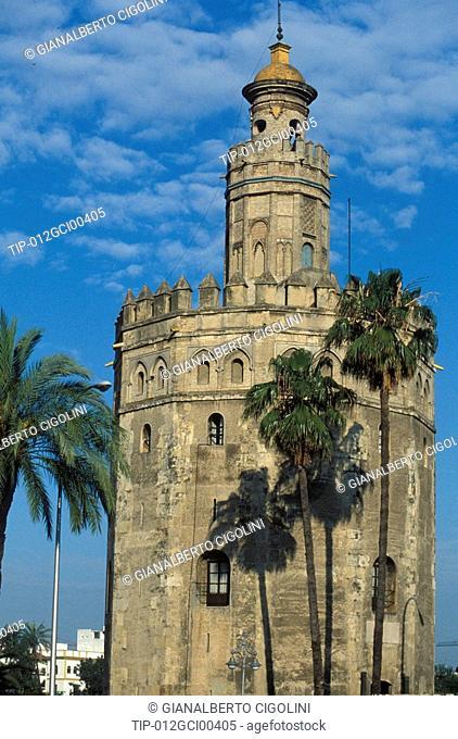Spain, Andalusia, Seville, Torre del Oro