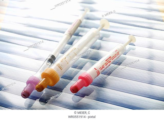 Three syringes - Monovette tube