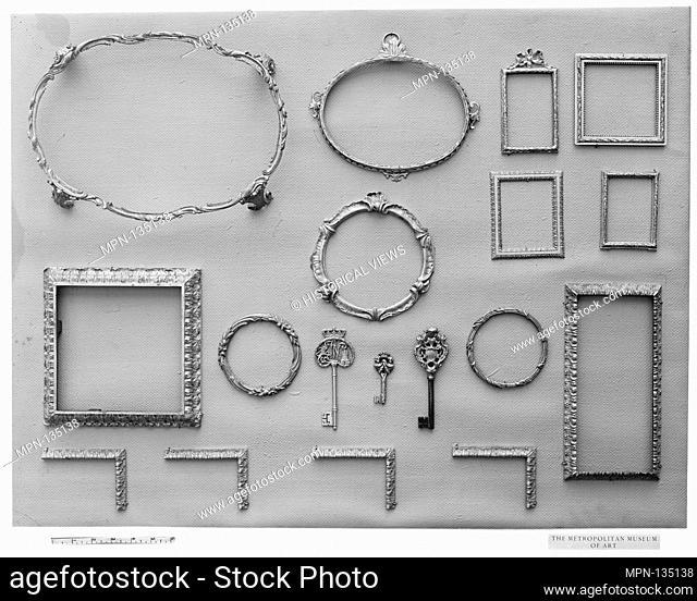 Clock ornament. Date: 18th century; Culture: French; Medium: Gilt bronze; Dimensions: Diameter: approx. 6 in. (15.2 cm); Classification: Metalwork-Gilt Bronze