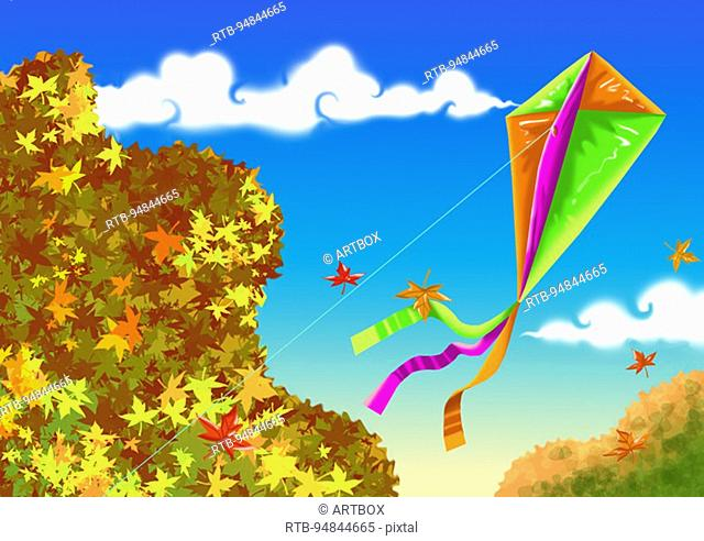 Low angle view of a kite flying