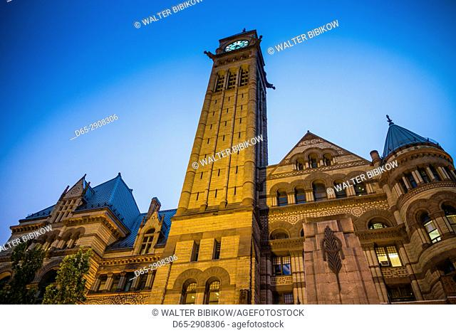 Canada, Ontario, Toronto, Old City Hall, dusk