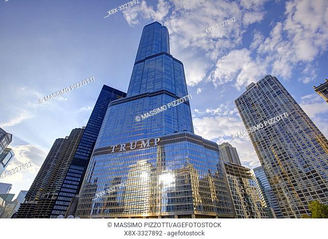 The Trump tower hotel in Chicago, Illinois, Italy